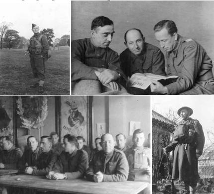 Marek Szwarc zokresu służby wPolskiej Armii, Anglia 1942, źródło: www. Des Gens Interessants oMarku Szwarcu