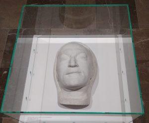Maska pośmiertna Mojżesza (Mosze) Broderzona (Broderzona, Brodersohna) wykonana w1956 roku wWarszawie, autor nieznany, zezbiorów Żydowskiego Instytutu Historycznego im.Emanuela Ringelbluma wWarszawie