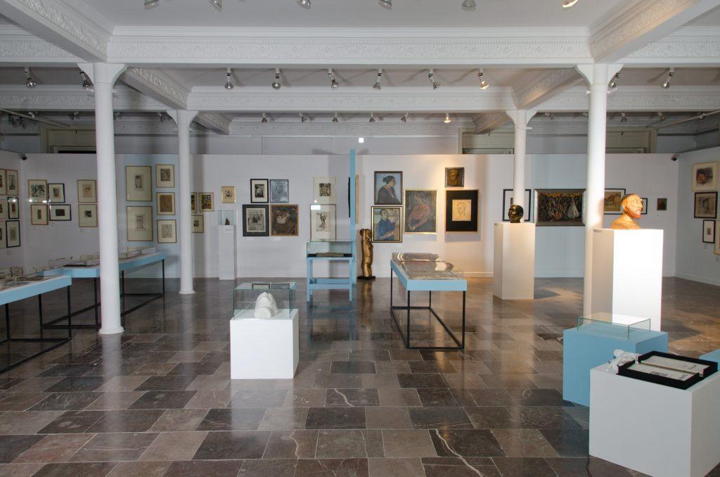 """Panorama wystawy """"Ekspresje Wolności. Bunt iJung Idysz – wystawa, którejnie było"""" wMMŁ. Łódź 2019, fot.Bożena Szafrańska (MMŁ)"""